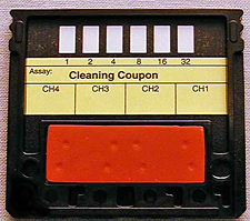 Cleaning coupon assembly for RAPTOR - Part Number: 7100-115-206-01